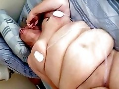 Mature BBW Cumming Hard from Electric Shocks