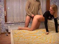 Anal First Time Amateur in Hotel