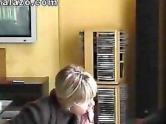French Milf doing a blowjob hidden cam