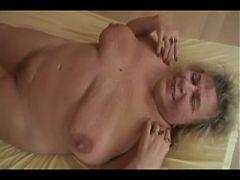 Blonde granny big saggy tits
