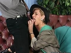 Nasty mature whore goes crazy getting her horny wet pus