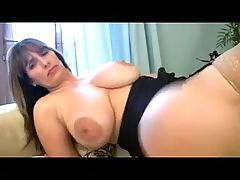 BBW MILF masturbates in stockings