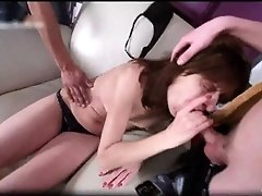 Nasty brunette milf sucks stiff rod and gets pounded ha