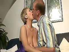 Guy fucks mature moaner with huge hooters