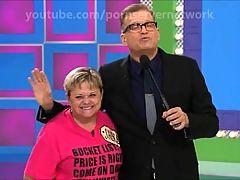 woman cums on tv