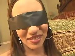 Beautyfull girl blindfold