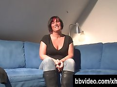 Pierced German milf toying her snatch