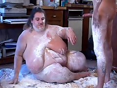 EXTREME BBW GETS ROLLED IN FLOUR & FUCKED