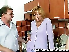 Teeny depraved by mature couple