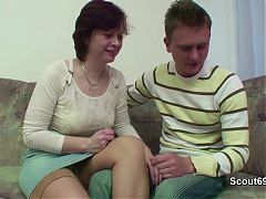 Mother Seduce German not Step Son to Fuck her