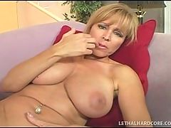 MILF Nicole Moore In Sexy Stockings Hunting for Dick