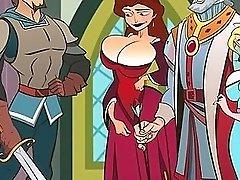 Hentai sex game Fucking the kingdom's slut queen