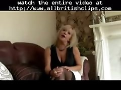 Mature blonde english escort sucking and fucking britis