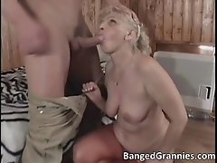 Awesome blonde milf gets fucked hard up her tight wet p