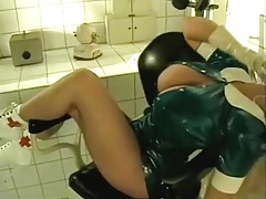 Tina Angel as a fetish nurse