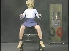 Metal chair torture electic bdsm panythose