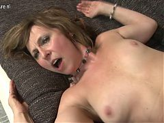 Hungry granny fucking and sucking hard in POV style
