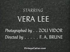 Vera Lee Shows off Her Sexy Body 1950s Vintage