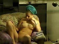 Window voyeur girl masturbates