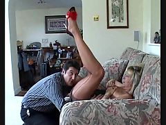 Dirty Mommy In Nylons Gets Her Pussy Licked Fucked And Full Mouth Of Cum Loaded