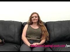 Teen Redhead 1st Anal Ambush Creampie Casting