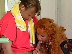 Redhead mature Workout Love