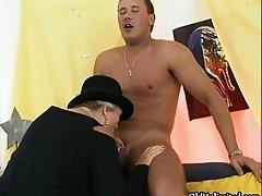 Nasty old slut sucks on an hard cock by oldunlimited