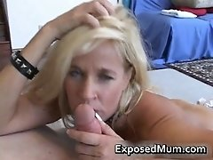 Naughty wife throating a hot weiner by exposedmum