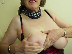 Real granny with big boobs and hairy pussy