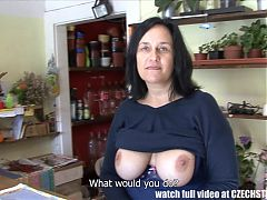 F Sized Tits Mature Get Fucked in Flower Store